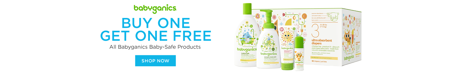 Buy One Get One Free Babyganics