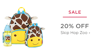 SALE - 20% Off Skip Hop Zoo