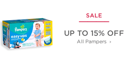 SALE - Up to 15% off Pampers