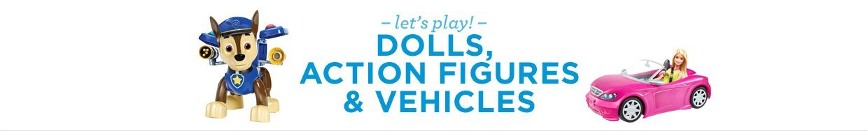 Dolls, Action Figures & Vehicles