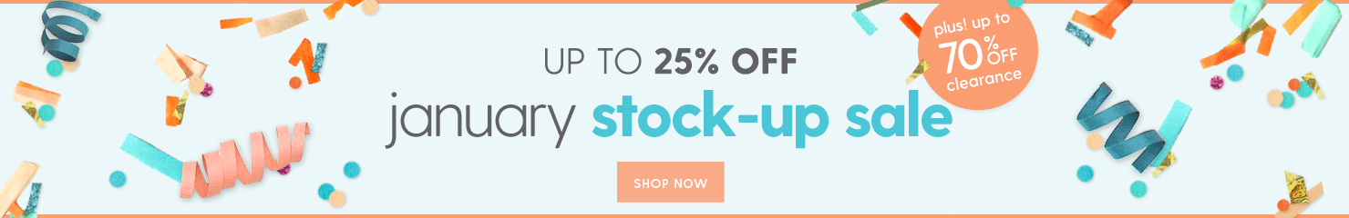 January Stock-up Sale