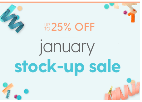 January Stockup Sale