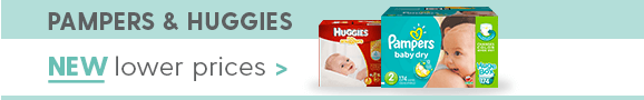 Pampers & Huggies. Starting at $8.99 with eCoupon