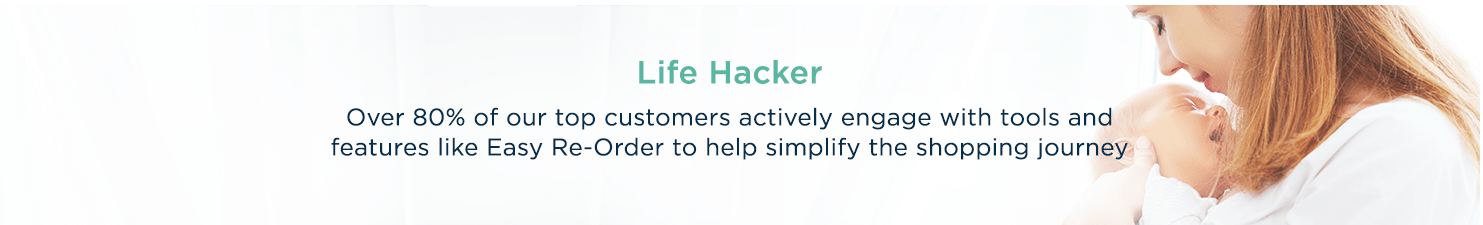 Life Hacker  Over 80% of our top customers actively engage with tools and features like Easy Re-Order to help simplify the shopping journey