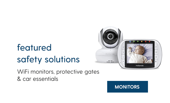 FEATURED SAFETY SOLUTIONS Wifi monitors, protective gates & car essentials MONITORS
