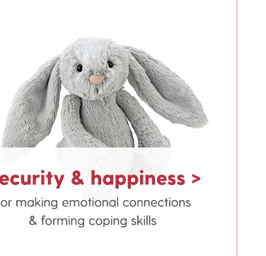 Security & Happiness For making emotional connections & forming coping skills