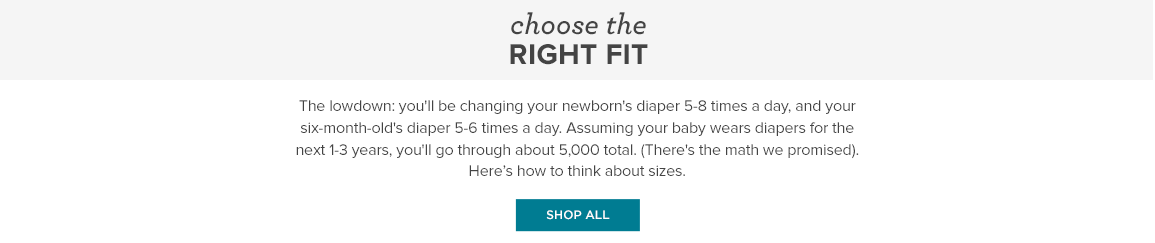 Choose the Right Fit. Diaper Size Guide.