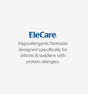 EleCare Hypoallergenic formulas designed specifically for infants & toddlers with protein allergies.
