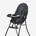 Boon Flair Highchair - Blue Pad - Gray Base