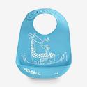 modern-twist Bucket Bib - Silicone - Giraffe Giggles - Blue
