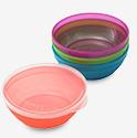 NUK Bunch-A-Bowls With Lids - Multicolor - 4 ct