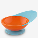 Boon CATCH BOWL with Spill Catcher - Blue/Tangerine