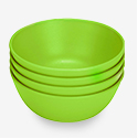 Green Eats Snack Bowl - Green - 4 ct