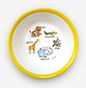Baby Cie Suction Bowl - Jungle Animals - Yellow
