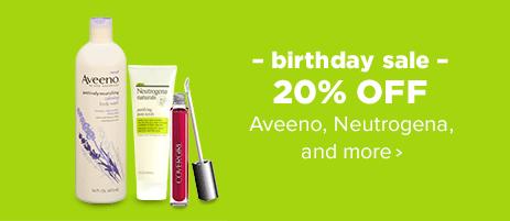 Birthday Sale - 20% OFF Aveeno, Neutrogena and more