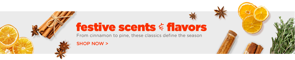 festive scents and flavors