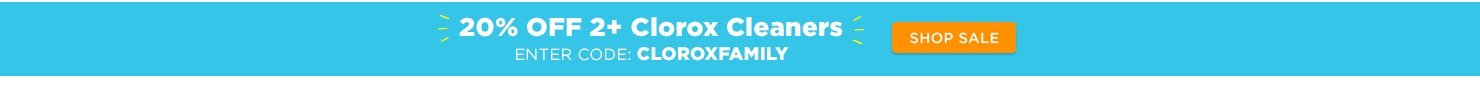 20% off 2+ Clorox cleaners