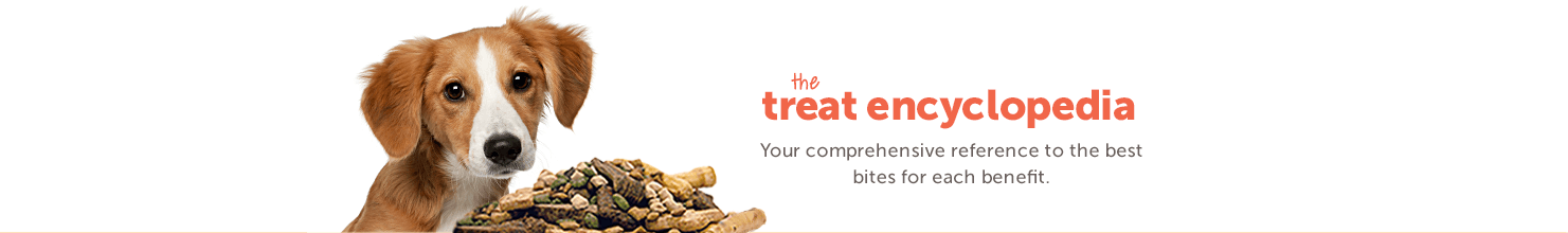 The treat encyclopedia. Your comprehensive reference to the best bites for each benefit.
