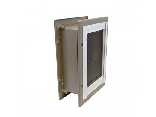 Amazon Com Petsafe Wall Entry Aluminum Pet Door With