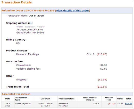 Proforma Invoice Template Free Download Amazoncom Help View Payments Transactions Rav4 Invoice Price Pdf with Receipt Book Custom Word Note Transaction Details Pages Display Payment And Fees Information Only  To View Order Details Or To Create A Refund Go To The Manage Orders Page  By  How To Fill Out Invoice Word