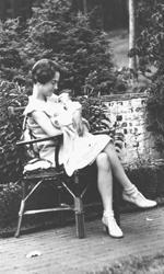 Anne Morrow Lindbergh with Charles A. Lindbergh, Jr.
