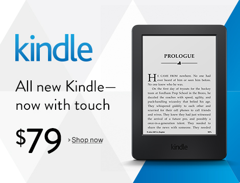 All new Kindle-- now with touch