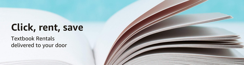 Click, rent, save. Textbook rentals delivered to your door.