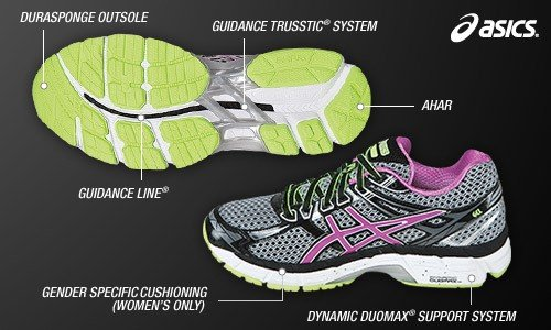 asics gel womens running shoes duomax