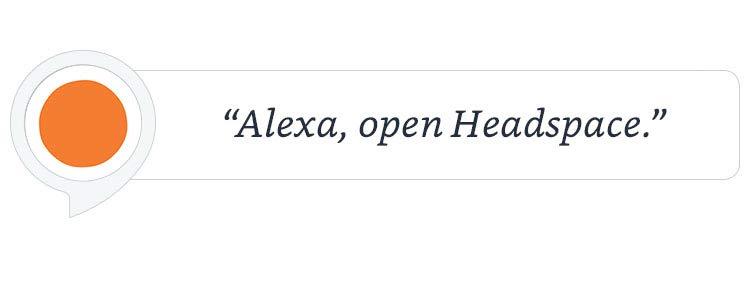 """Alexa, open Headspace."""