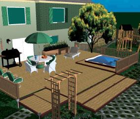 Total 3d home landscape deck premium suite old version for 3d home garden design software free