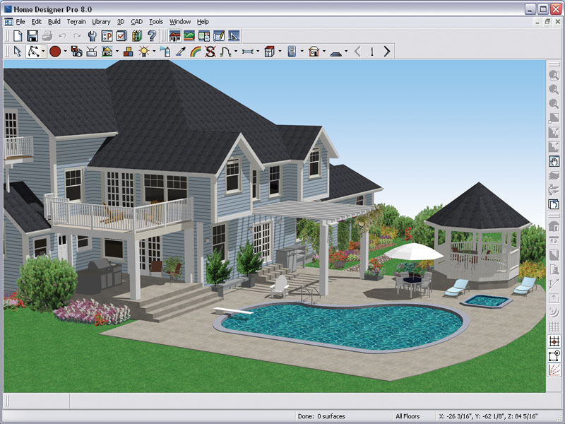 professional home design. Amazon Com  Better Homes And Gardens Home Designer Pro 8 0 OLD VERSION Software