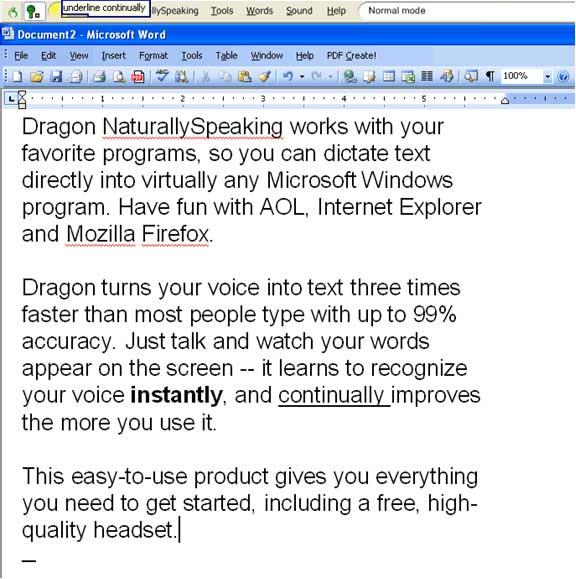 Dragon naturally speaking preferred 10 100 working