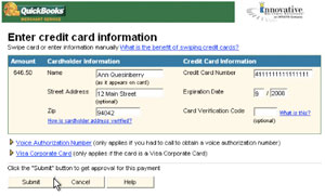 credit card information