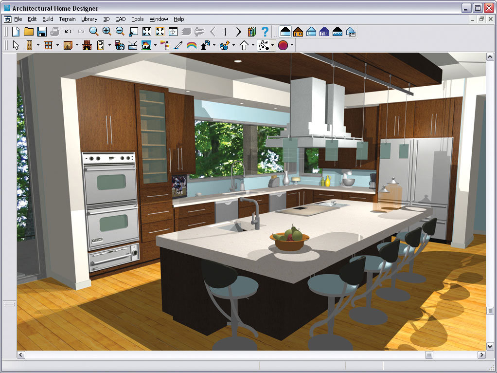 Chief architect architectural home designer 9 for Kitchen layout tool