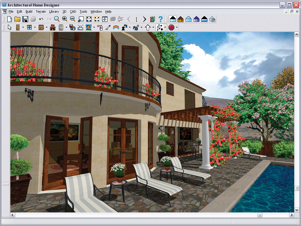 Home Architecture Design Software ez architect for windows 7 windows 8 windows 10 and vista Click To Enlarge