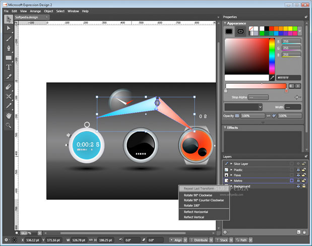 Access powerful vector drawing and editing tools with the included