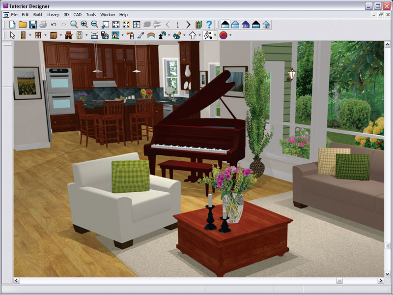 Chief architect interior designer 9 0 download old version software for Interior decorating software free