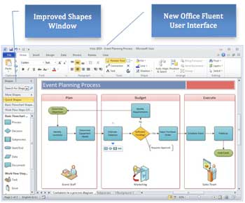diagram faster and better in visio 2010 with a more intuitive user experience - Ms Visio 2010 Key