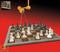 Enjoy amazing 3D graphics, chess rooms and virtual opponents.