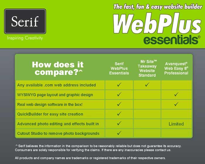 serif webplus x4 software free