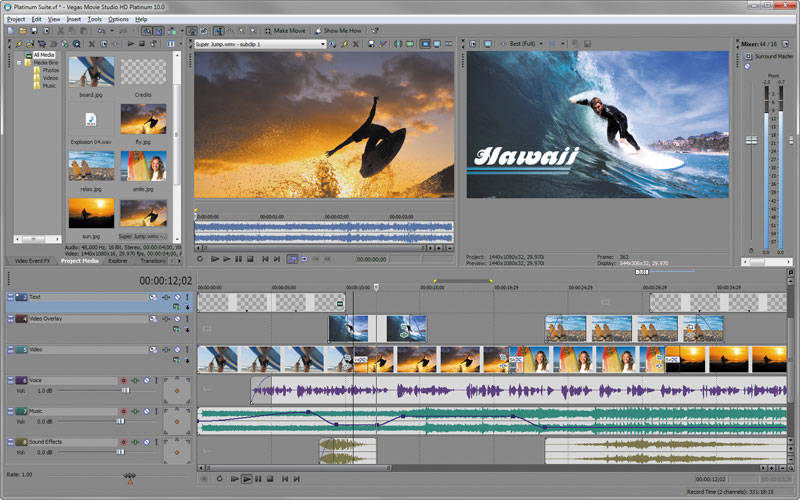 Image result for Sony Vegas Movie Studio HD Platinum