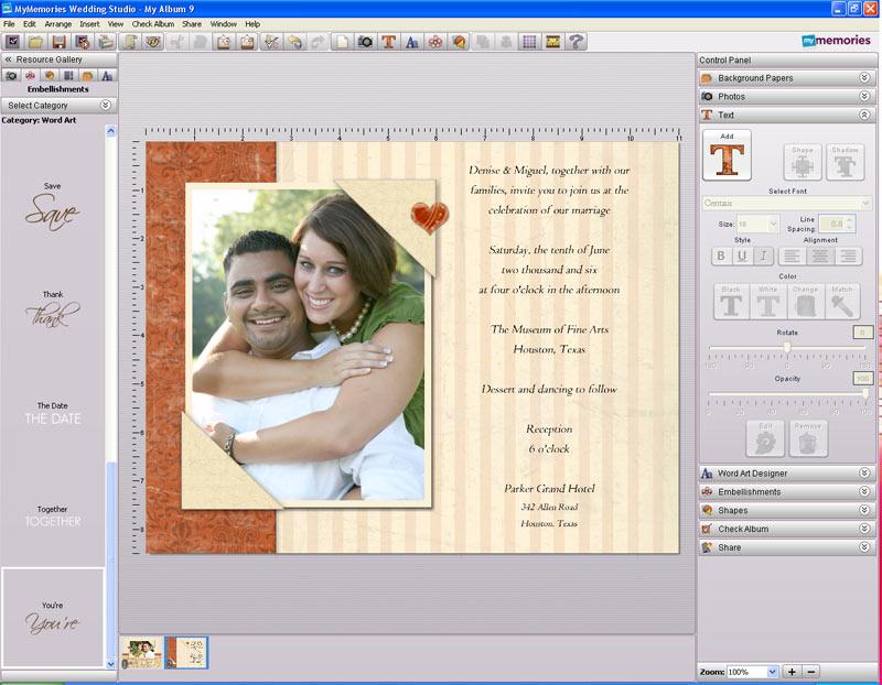 Software Wedding Invitations: Amazon.com: MyMemories Wedding Studio SB: Software