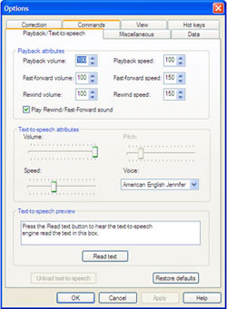 Playback/text-to-speech