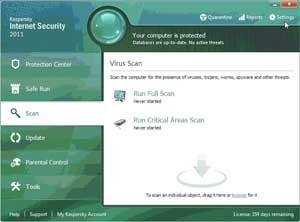 Kaspersky Anti-Virus 2011--Scanning