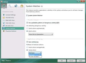 Kaspersky Anti-Virus 2011--System Watcher