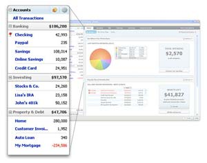 Quicken Home & Business 2011 Accounts