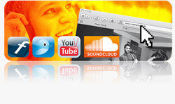 Upload your own songs with one click to Twitter™, Facebook, MySpace™, SoundCloud®, etc.