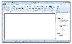 Corel Office Write Screen