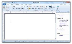 Corel Office Write Screen