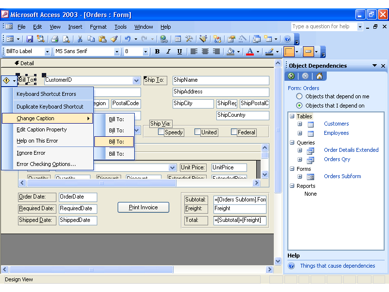 Microsoft office professional 2003 old for Microsoft access 2003 templates